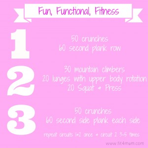 Fun functional fitness