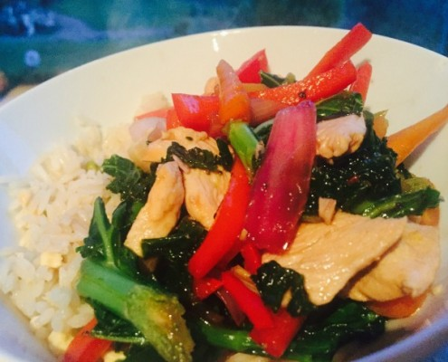 Stir-Fried-Vegetables-with-Chicken-in-Oyster-Sauce