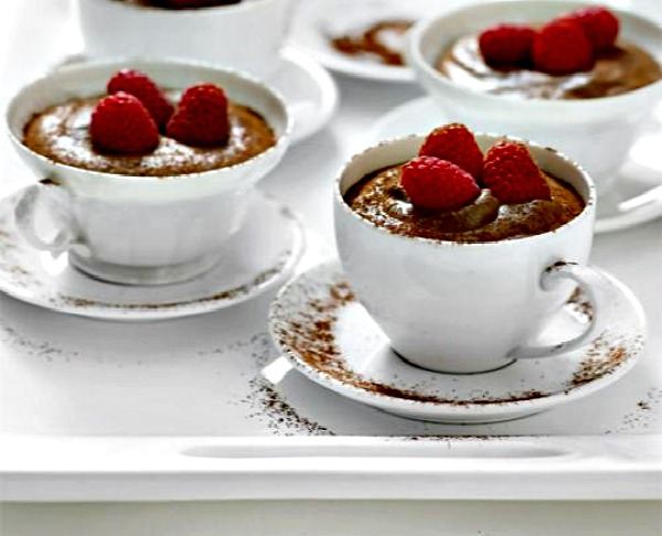 Chocolate Mousse With Raspberries Fit4mum
