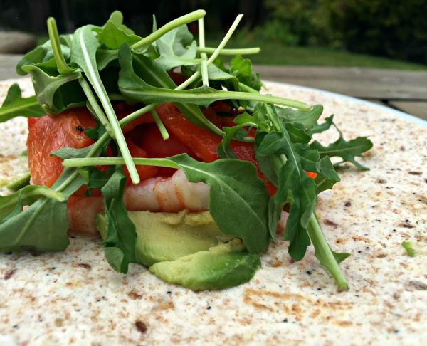 prawn-avocado-rocket-wrap
